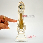 Working Dollhouse Miniature Grandfather Clock White V4010D-GPB 1:12 scale